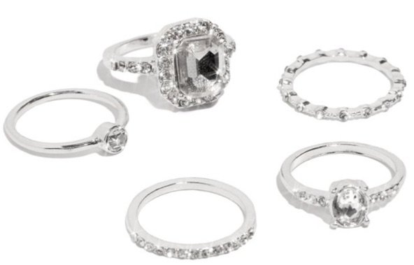 divinity ring set silver