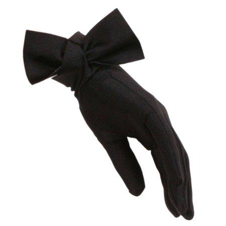 Women's Black Bow Cocktail Gloves – Black.co.uk