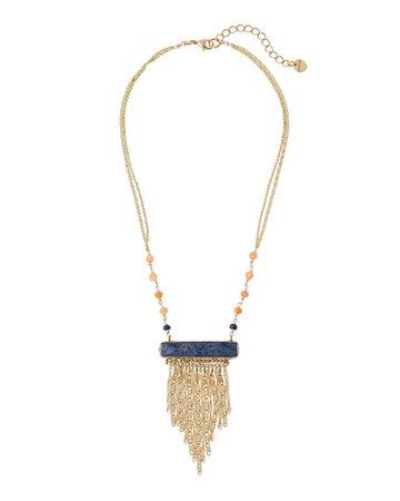 Nakamol Lapis Fringe Pendant Necklace