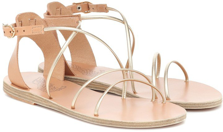 Meloivia leather sandals