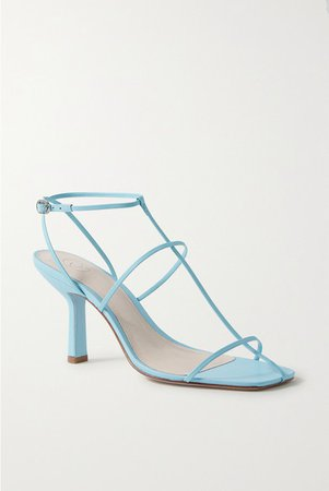 Leather Sandals - Sky blue