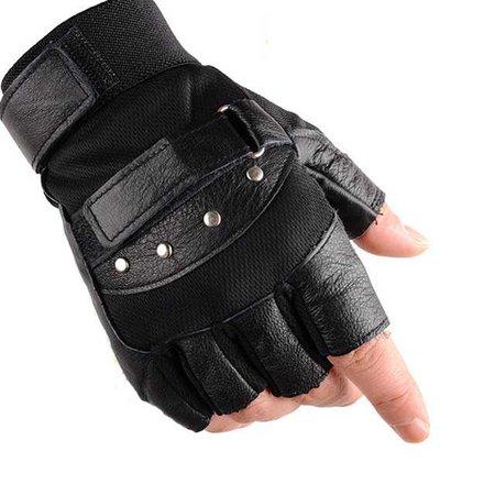 Fingerless Black Gloves