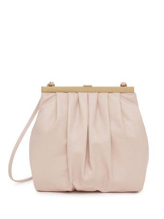 Pink Mansur Gavriel lambskin draped mini bag WF20H005KQ - Farfetch