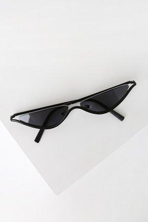 Lulus Trendy Black Sunglasses - Mini Sunglasses - Cateye Sunglasses