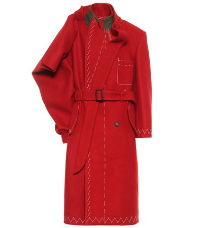 Maison Margiela - Deconstructed wool trench coat   Mytheresa