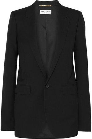 SAINT LAURENT Wool-gabardine blazer