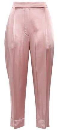 Satin Straight-leg Pants