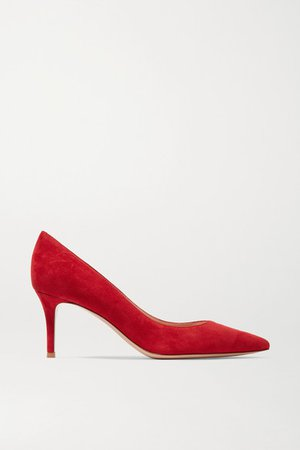70 Suede Pumps - Red
