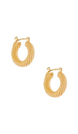 Electric Picks Jewelry Presley Hoops in Gold | REVOLVE