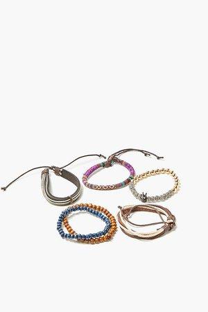 Men Premium Beaded & Braided Bracelet Set