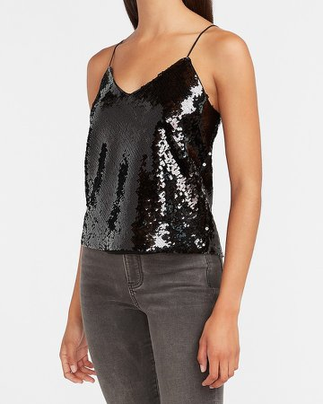 Cropped Sequin Cami