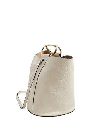MANGO Pebbled bucket bag