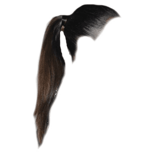 Straight Brown Hair Ponytail