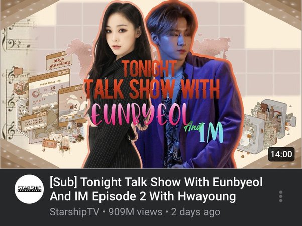 Tonight Talk Show With Eunbyeol and IM episode two