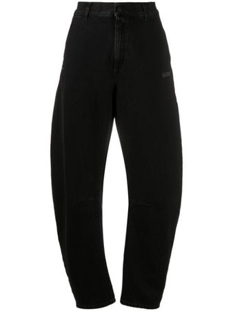 Black Off-White high-waisted bootcut jeans with Express Delivery - Farfetch