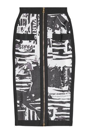 Printed Pencil Skirt Gr. FR 40