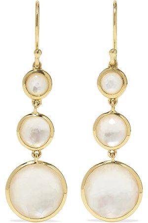Ippolita | Lollipop 18-karat gold mother-of-pearl earrings | NET-A-PORTER.COM