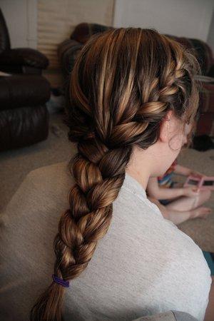Double french braid into one single braid