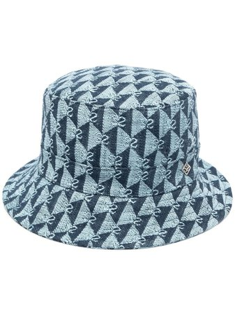 Sandro Paris Embroidered Monogram Bucket Hat - Farfetch