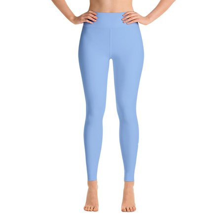 Light Blue Leggings | Yoga Leggings | Panaprium