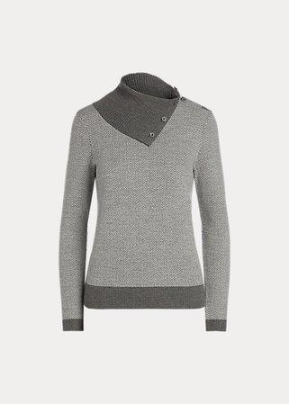 Herringbone Wool Sweater