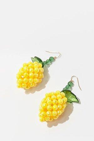 Beaded Pineapple Drop Earrings | Forever 21