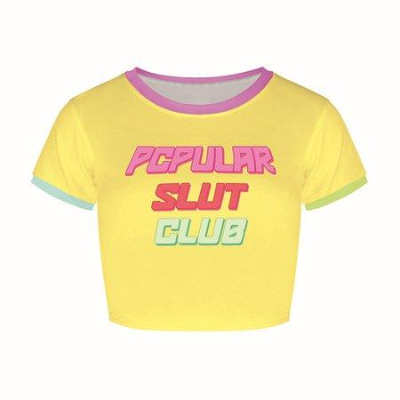 Popular Slut Club Crop Top