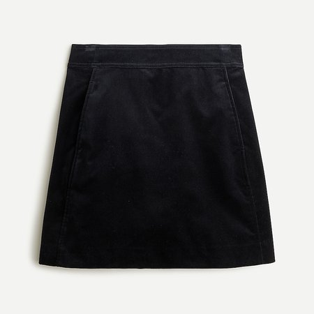 J.Crew: Mini Skirt In Stretch Velvet For Women