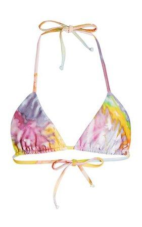 Rae Printed Bikini Top By Mara Hoffman | Moda Operandi