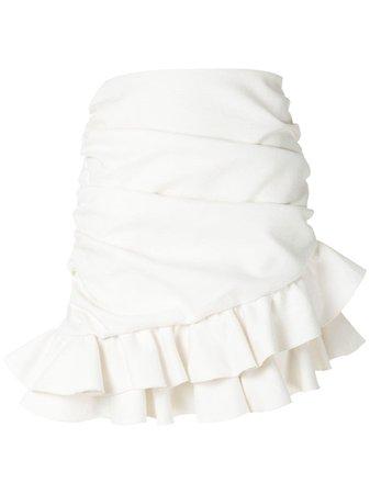 Andrea Bogosian draped mini skirt white 009187 - Farfetch