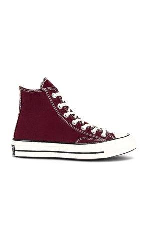 Converse Chuck 70 Hi Sneaker in Deep Bordeaux, Egret, & Black | REVOLVE