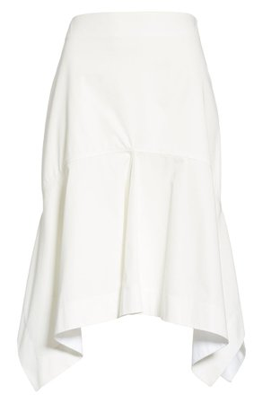 CALVIN KLEIN 205W39NYC Sharkbite Hem Cotton Gabardine Skirt | Nordstrom