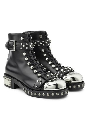 Studded Leather Boots Gr. IT 39