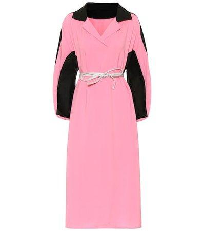 Cotton and linen midi dress