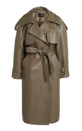 Belted Faux Leather Trench Coat By Low Classic | Moda Operandi
