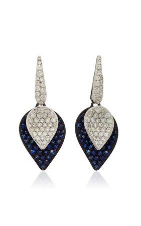 Sutra Kashmir Sapphire Petal Earrings