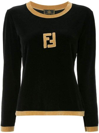 Pre-Owned long sleeve fitted sweatshirt