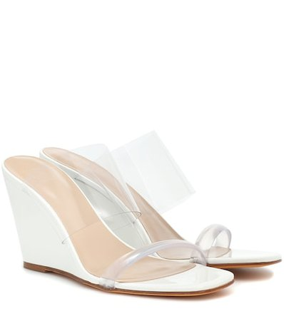 Exclusive to Mytheresa – Olympia patent leather wedge sandals