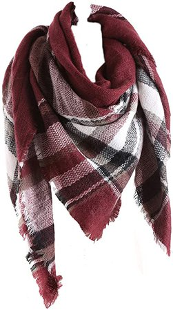 Burgundy checkered scarf