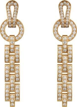 cartier gold earrings