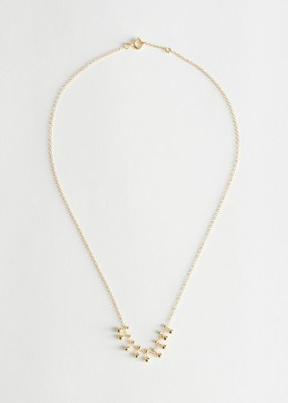 Stud Pendant Chain Necklace - Gold - Necklaces - & Other Stories