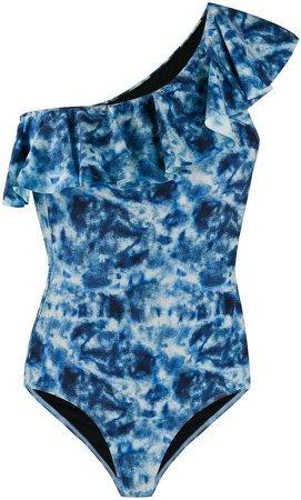 tie-dye print swimsuit