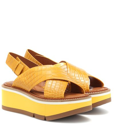 Anae platform leather sandals