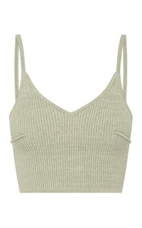 Nellie Ribbed-Knit Cotton-Blend Crop Top By Anna Quan | Moda Operandi