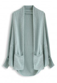 Chicwish $56 - Open Front Drape Knit Cardigan