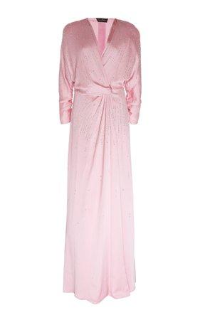 Jenny Packham Lantana Sequined Satin Gown