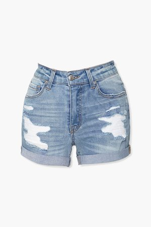 Cuffed Denim Shorts | Forever 21