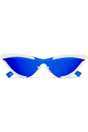 Le Specs | + Adam Selman The Scandal cat-eye metal mirrored sunglasses | NET-A-PORTER.COM