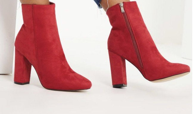 pretty little thing red Booties