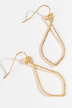 Heidi Knife Cut Teardrop Earrings | francesca's